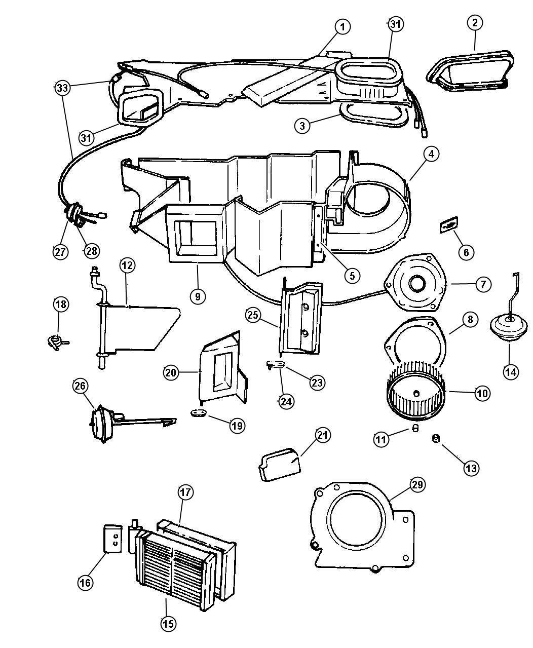 Chrysler Sebring Motor Blower With Wheel Blower