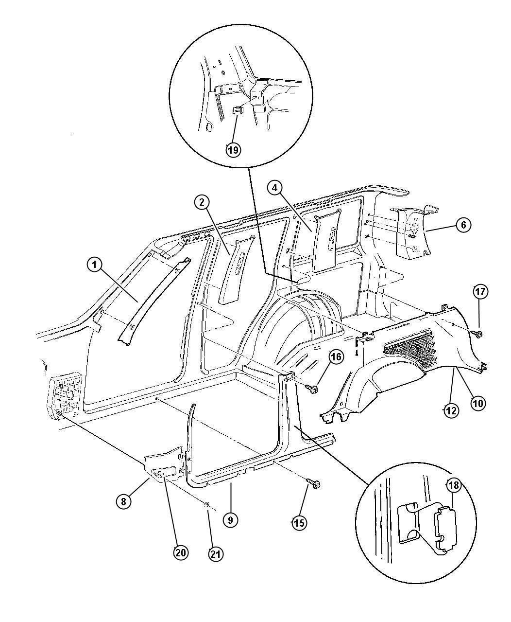 Jeep Grand Cherokee Molding C Pillar Right T6 Saddle Trim All Trim Codes Color