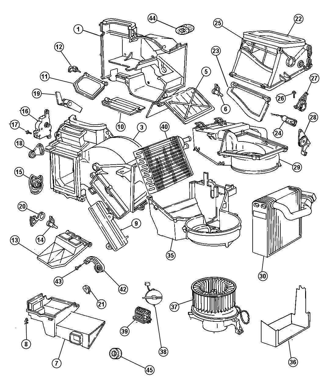 1998 Dodge Stratus Evaporator. Air conditioning. Heater