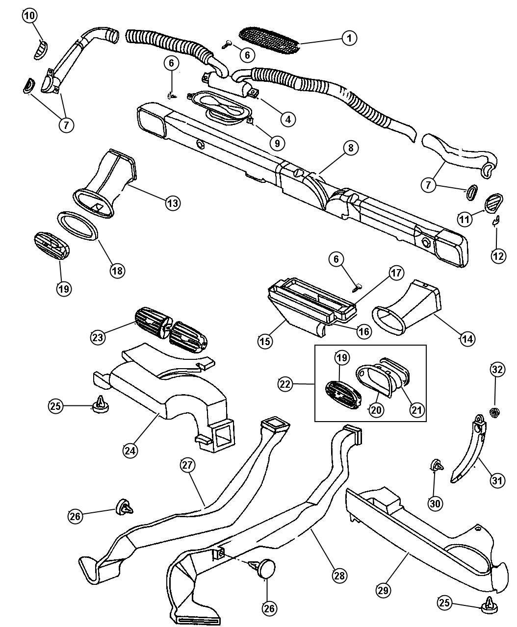 Dodge Stratus Reinforcement. Instrument panel. Cross car
