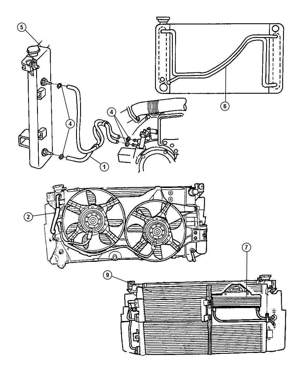 Chrysler Town Amp Country Hose Transmission Oil Cooler