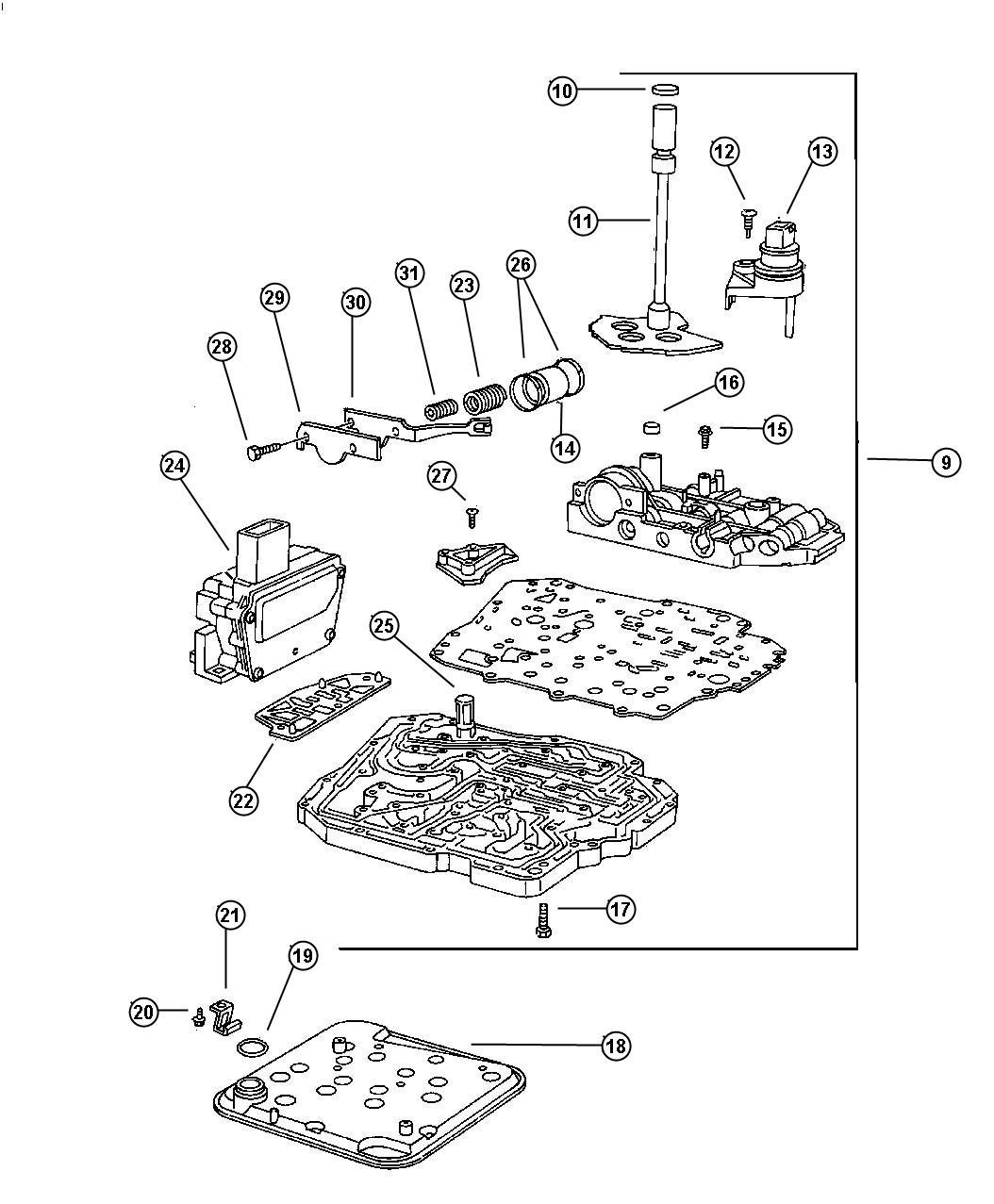 1997 Chrysler LHS Sensor. Manual valve lever. Up to 9-29