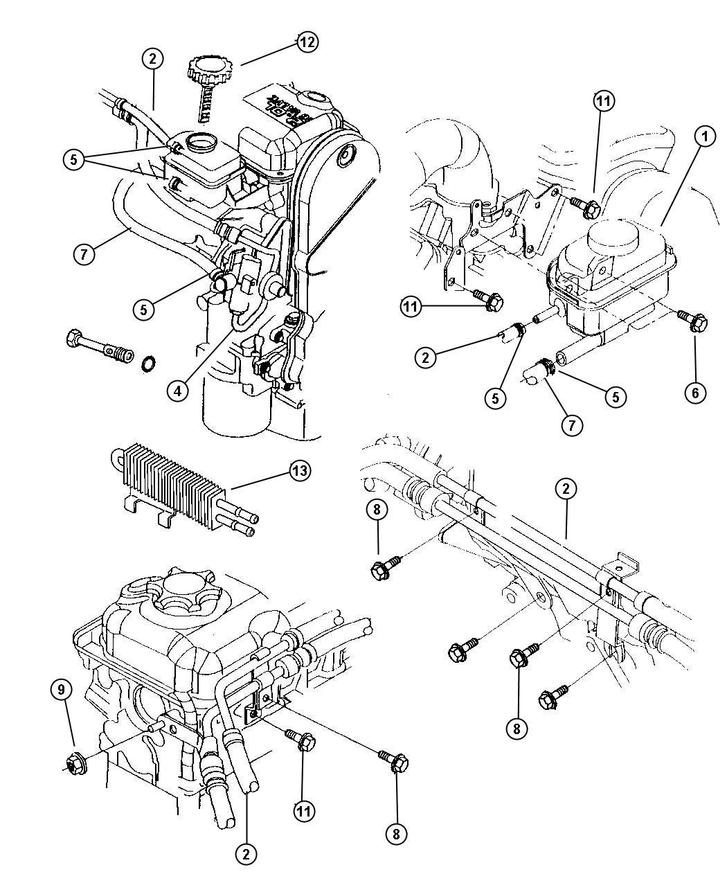 Dodge Grand Caravan Clip. Oil tube, tube. Mounting, oil