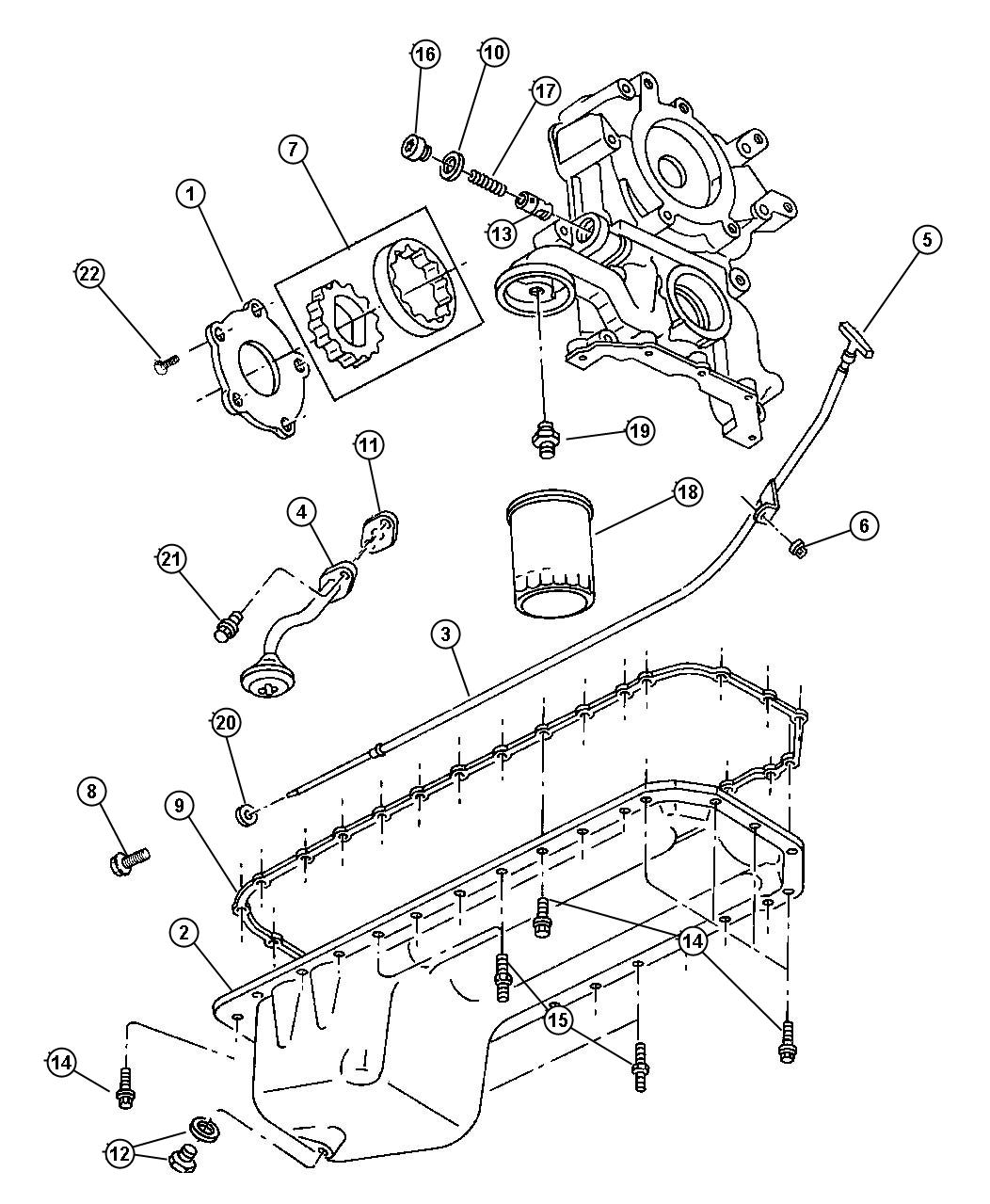 1999 Dodge Ram 3500 Plunger. Oil pressure relief valve