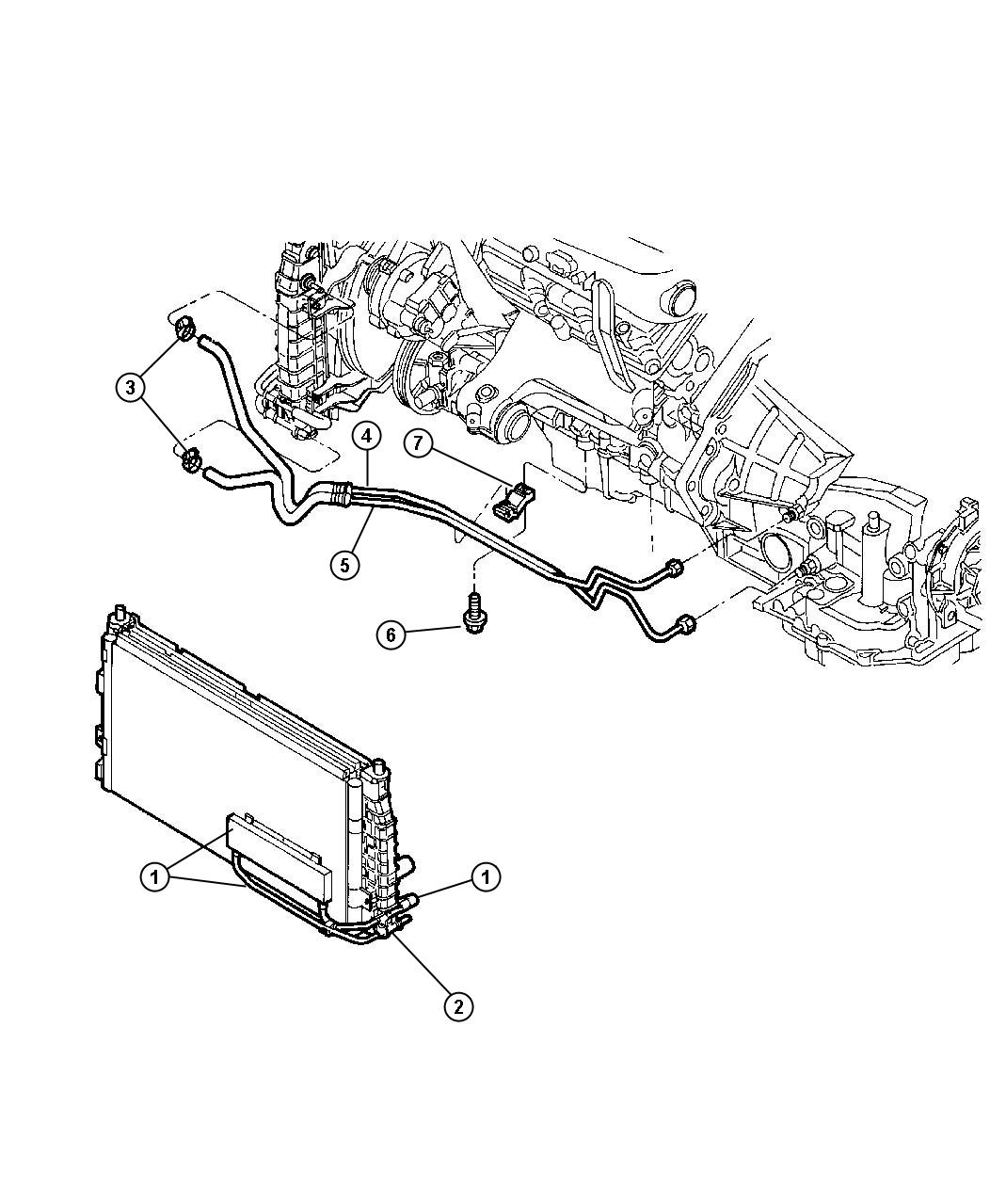 Dodge Intrepid Cooler Kit Auxiliary Trans Oil Engine