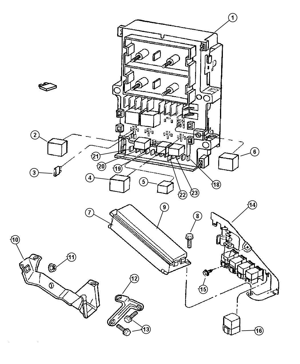 Chrysler Voyager Relay. Electrical, mini. Radiator fan