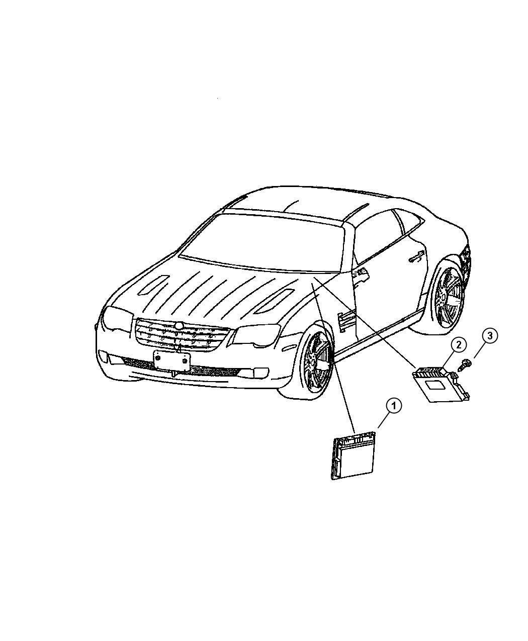 Chrysler Crossfire Module Powertrain Control Build To U S Market Specifications