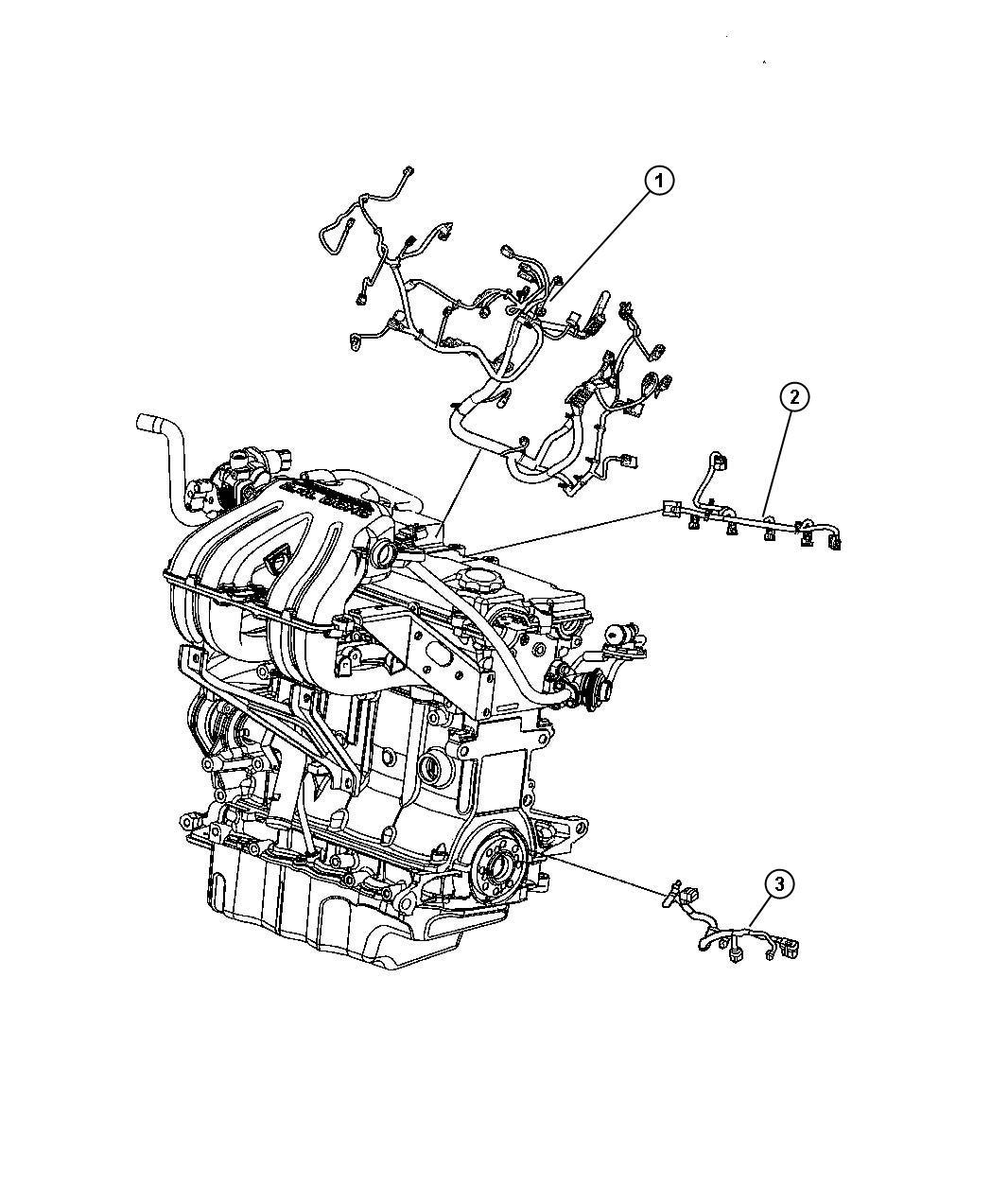 2011 Dodge NITRO Wiring. Transmission jumper. Engine