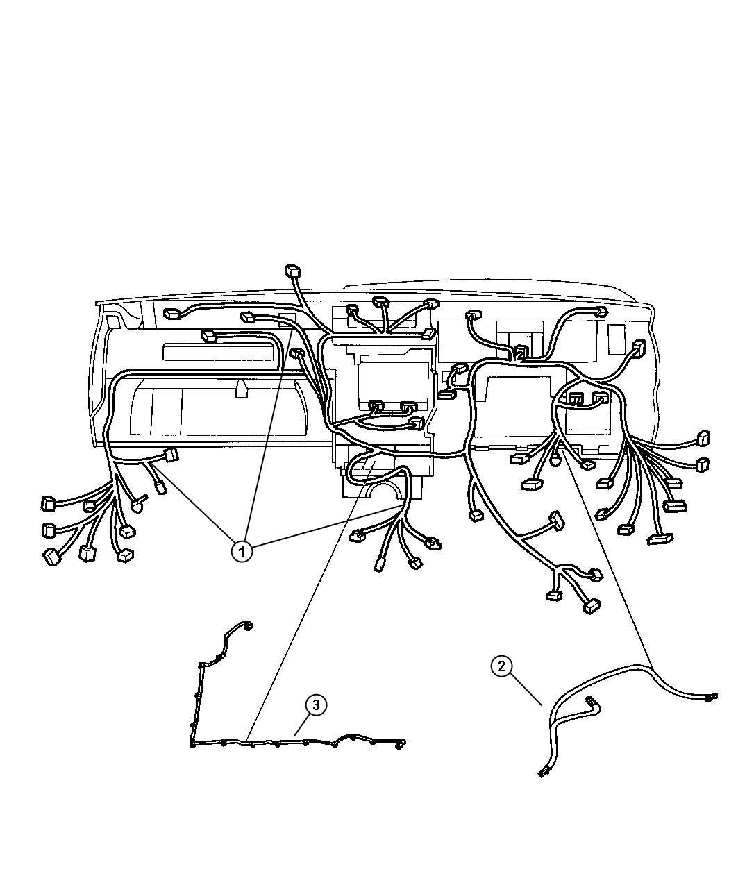 Jeep Commander Wiring. Instrument panel. [6 speakers] up