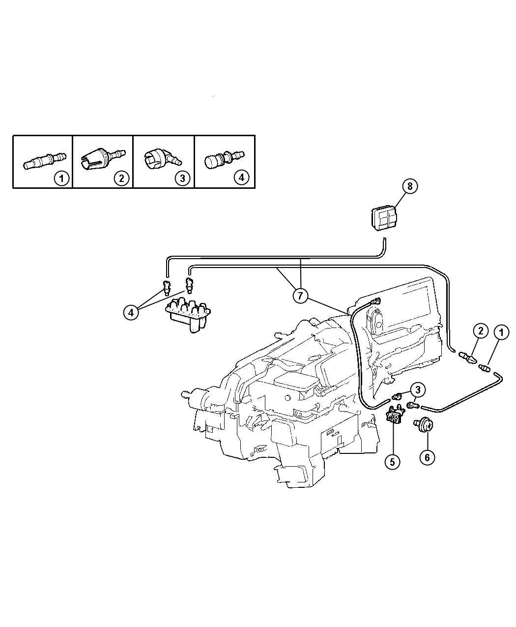 Dodge Nitro Valve A C Vacuum Harness Air