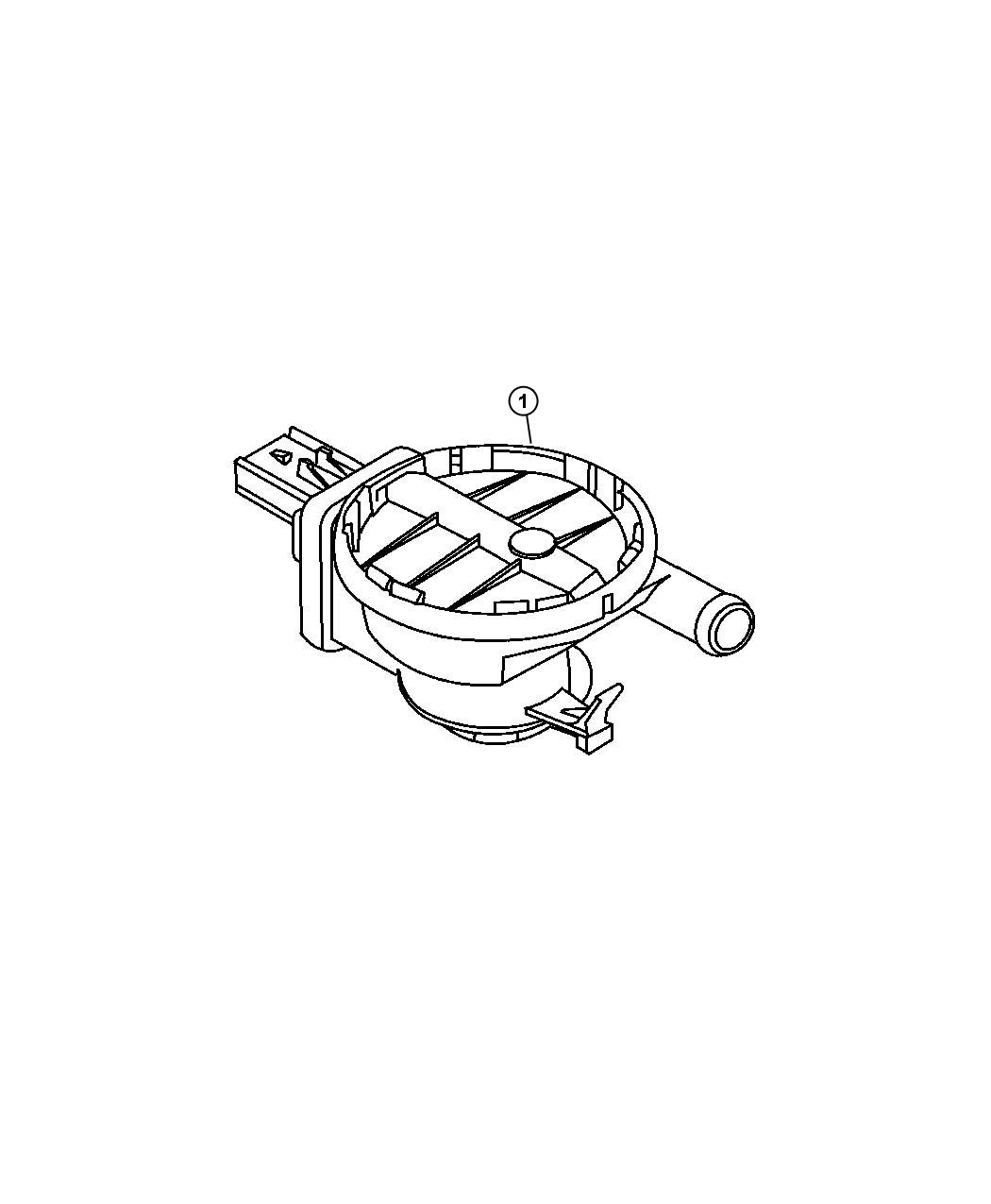 Jeep Commander Filter. Fuel vapor vent, leak detection