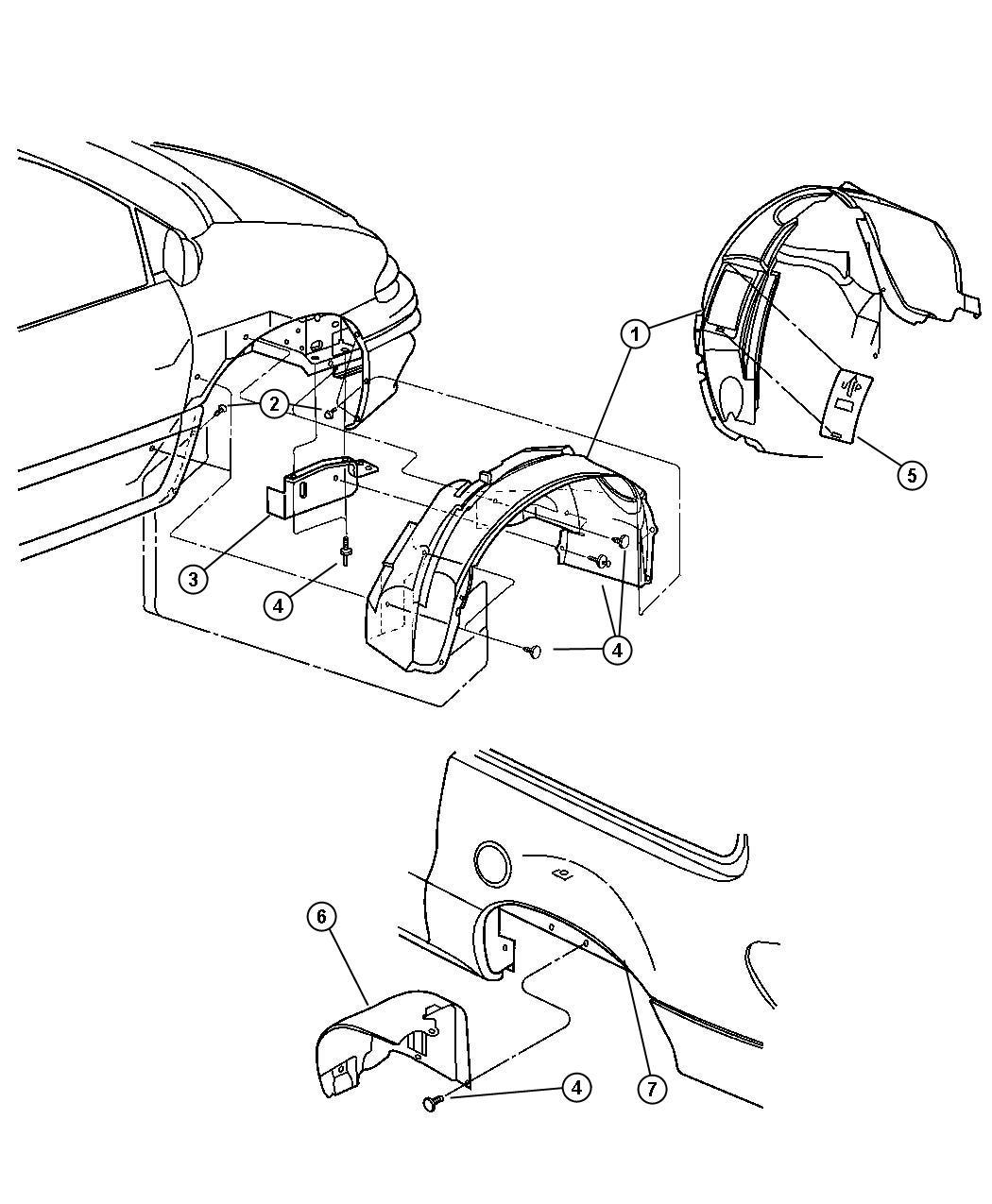 2006 Dodge Caravan Shield. Accessory drive. Engine, smpi