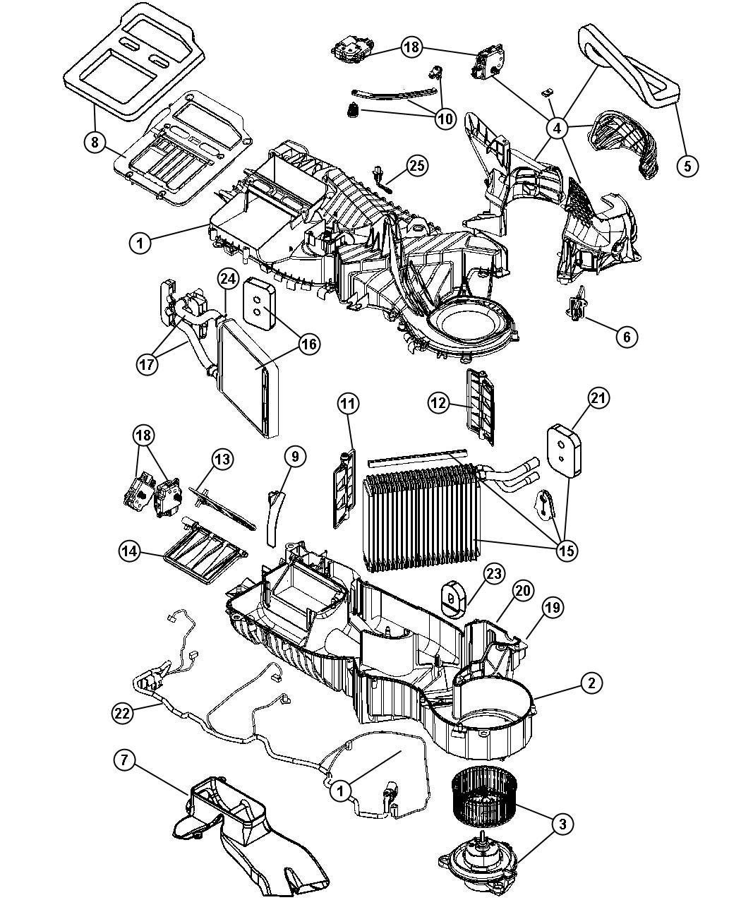Dodge Dakota Duct. Floor. Conditioning, heater, unit