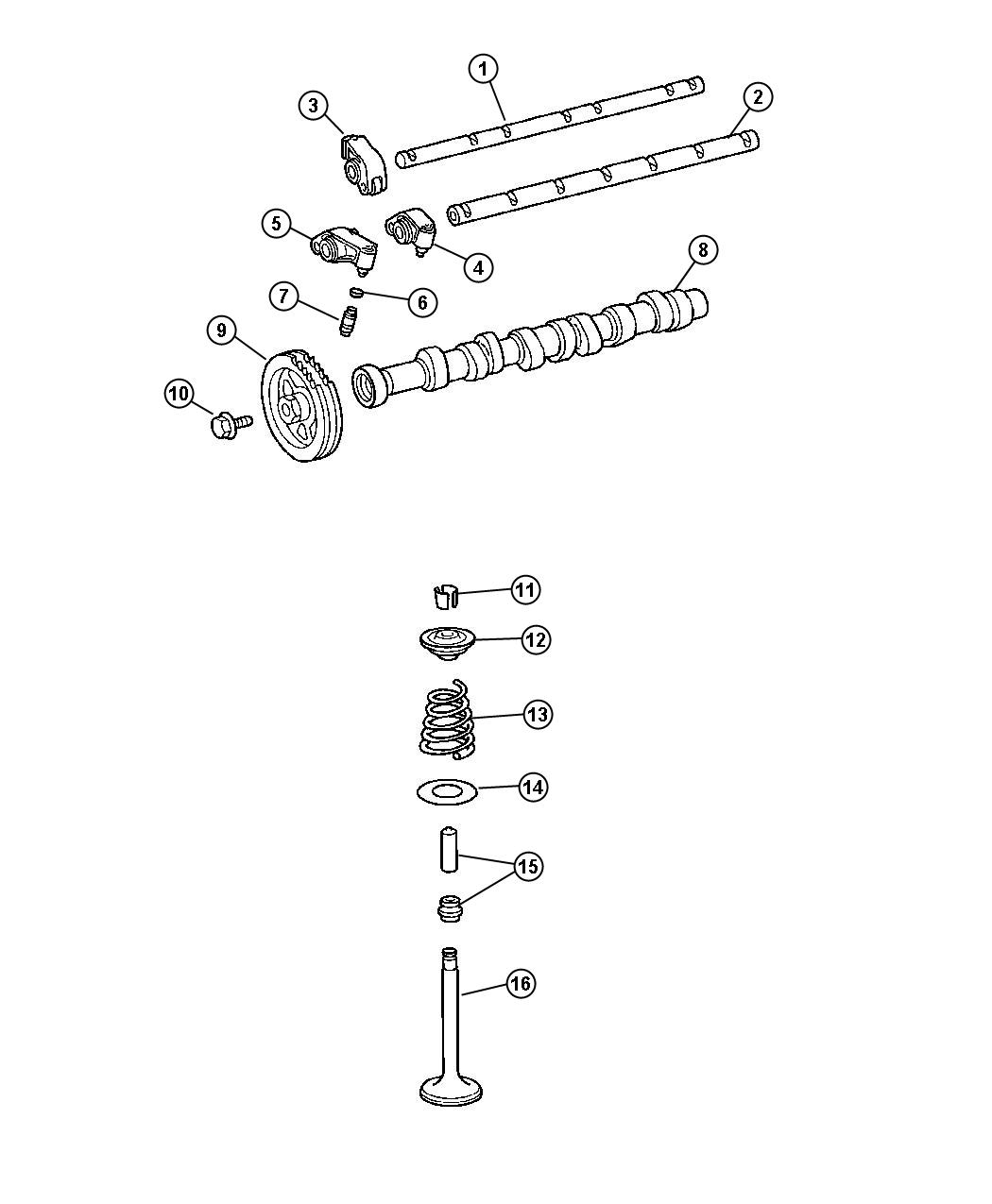 Chrysler Crossfire Sprocket. Camshaft. Timing, related
