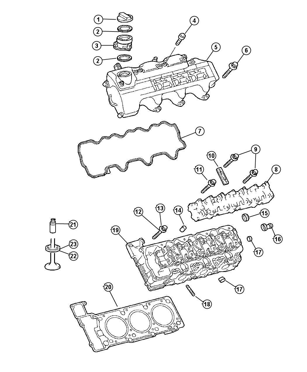 2006 Chrysler Crossfire Seat. Exhaust valve. Standard