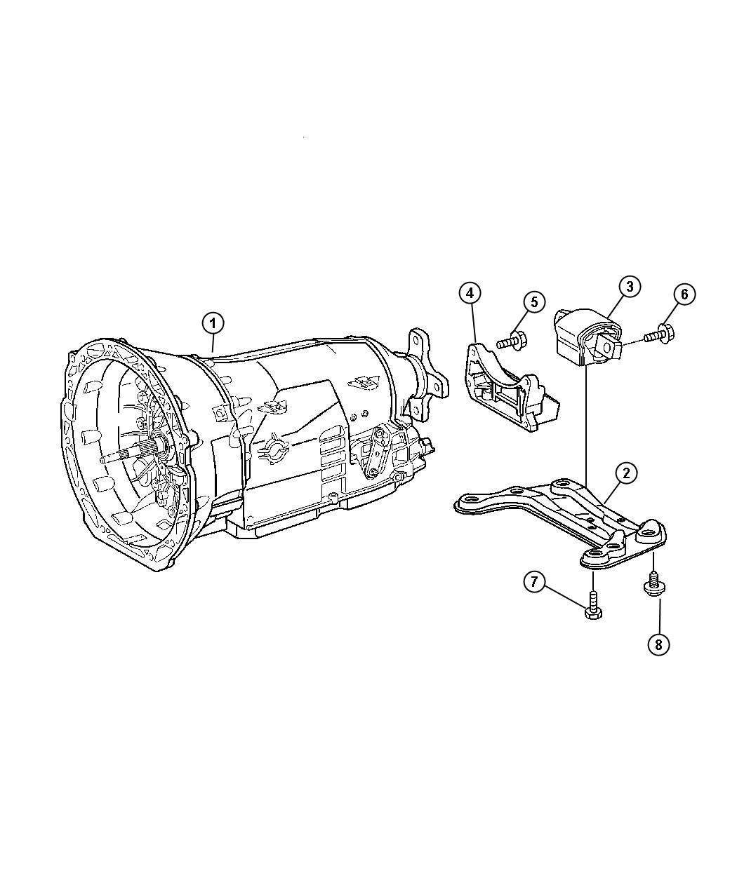 Chrysler Crossfire Support. Transmission. Rear, mount