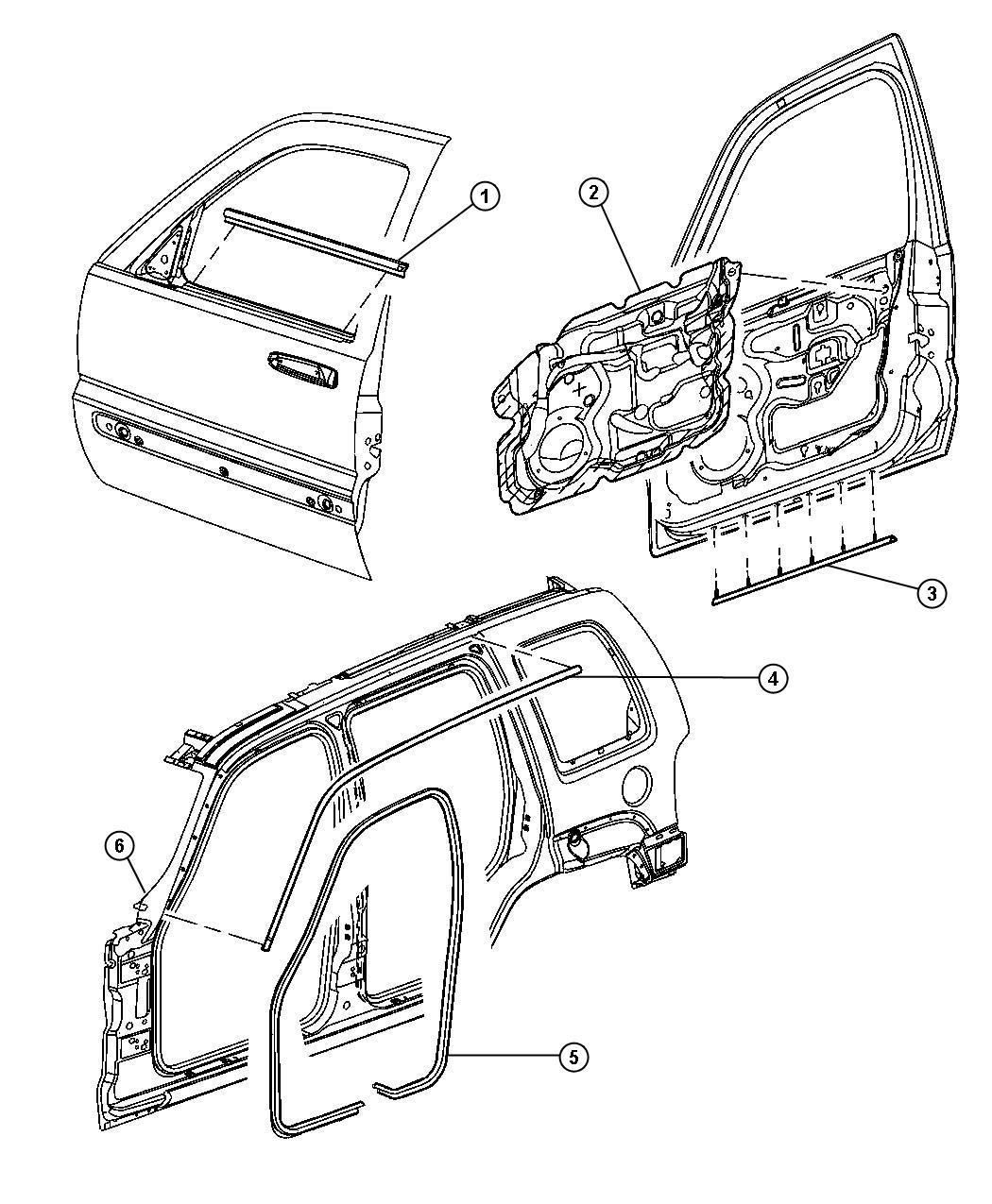 Chrysler Sebring Weatherstrip Door Belt Right Front