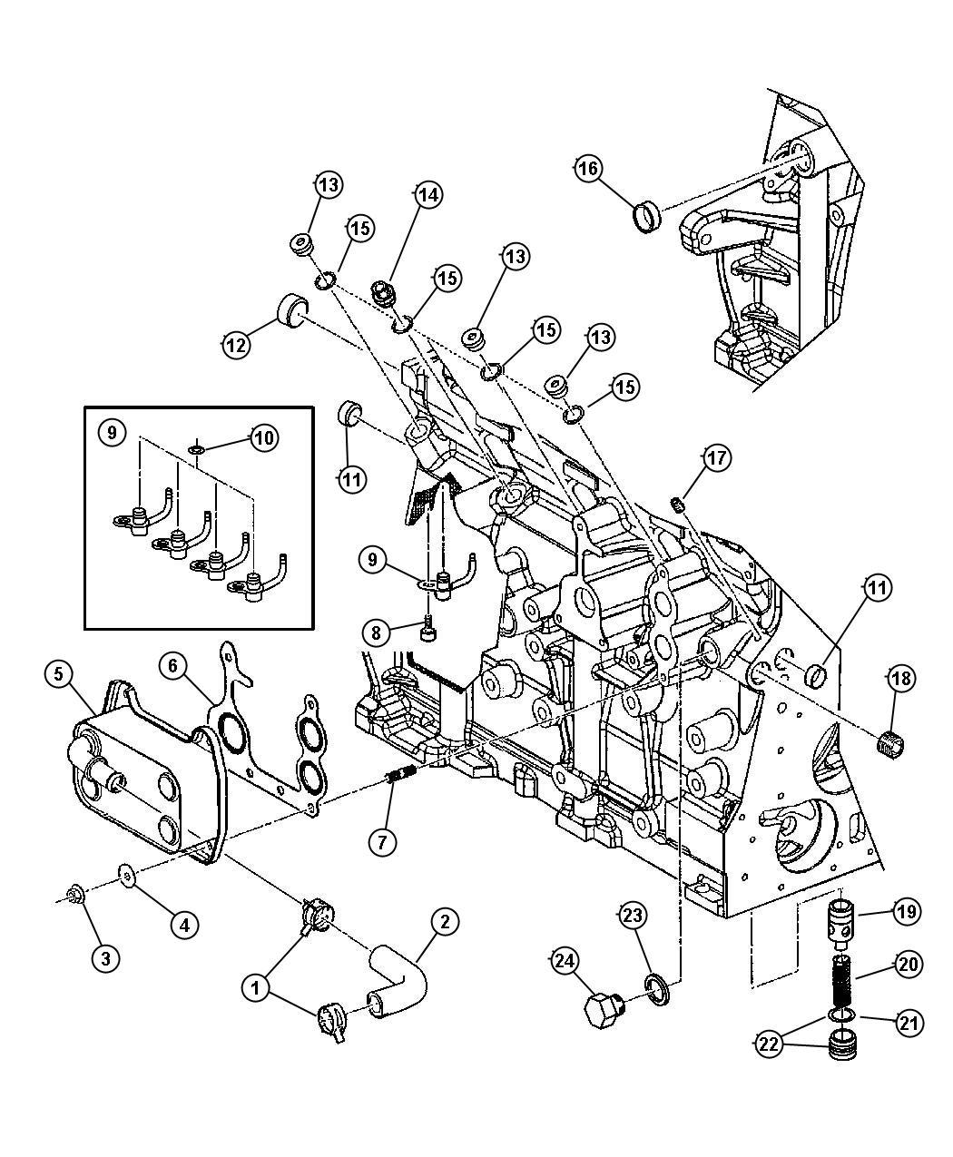 Dodge Stratus Plug Cylinder Block Oil Hole Enc Enr