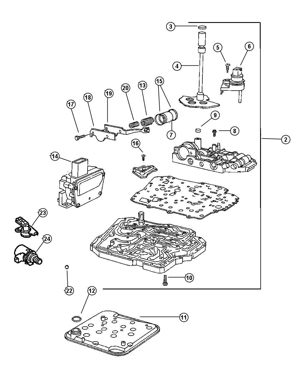 Dodge Dakota Valve Body Remanufactured Module Complete