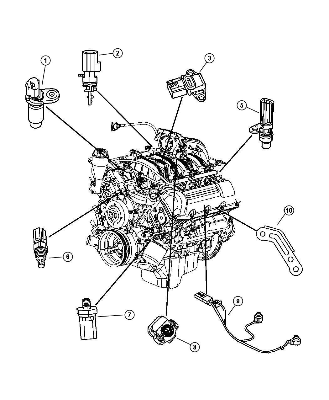 Dodge Durango Sensor, sensor kit. Throttle position