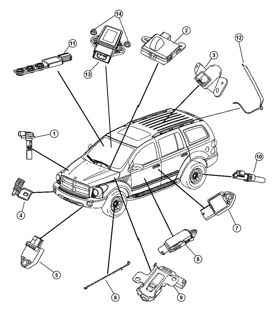 2005 Chrysler 300 Sensor. Seat track position. Trim: (*zl