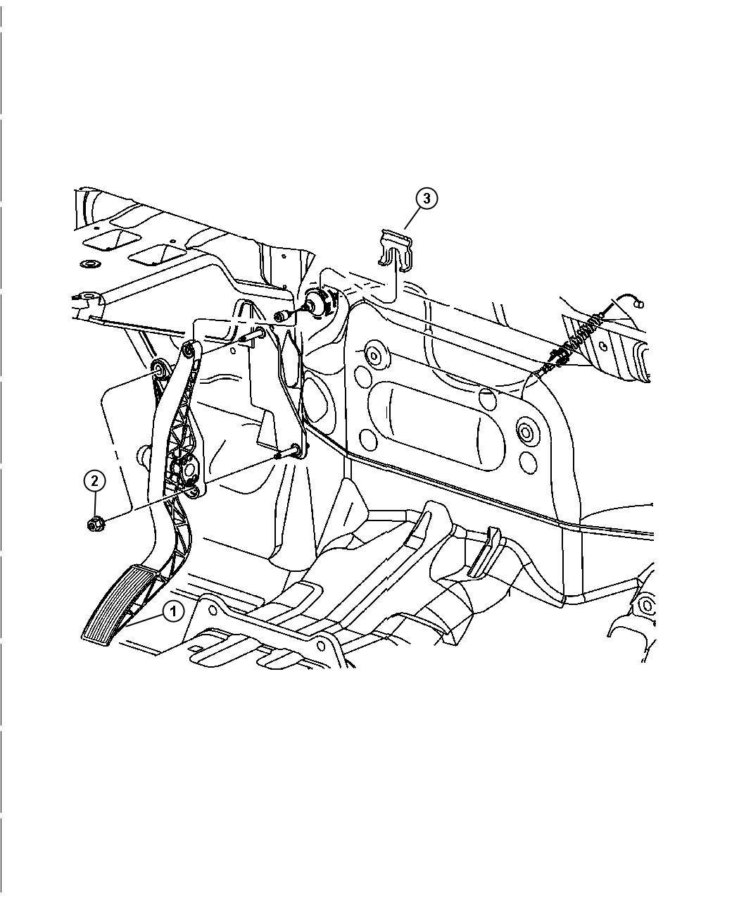 Dodge Durango Pedal Accelerator Engine