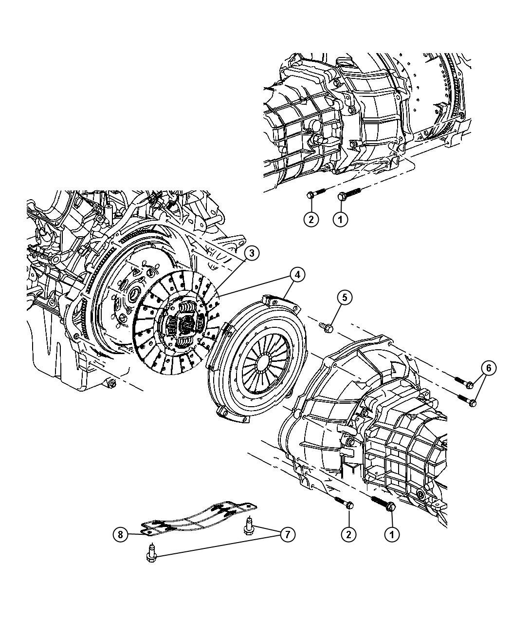 Dodge Ram 1500 Screw. Hex head. 437-14x2.75. Mounting