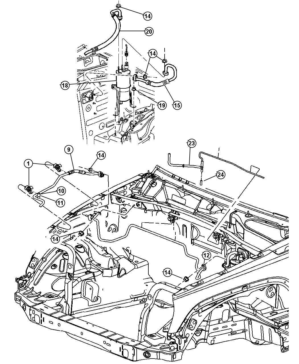 2003 Jeep Liberty Used for: HOSE AND VALVE. Vacuum. Air