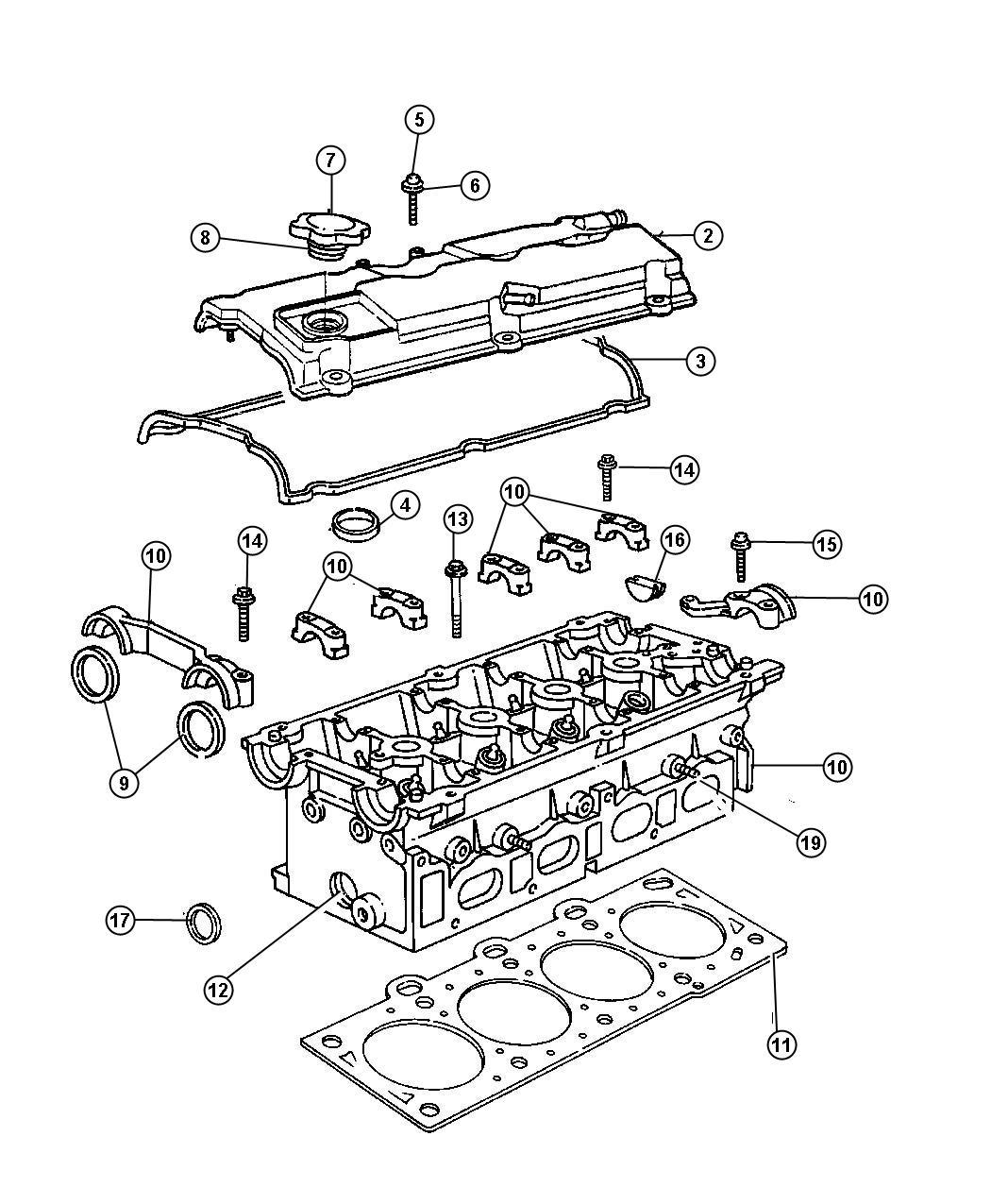 Dodge Caravan Gasket. Cylinder head cover, valve cover