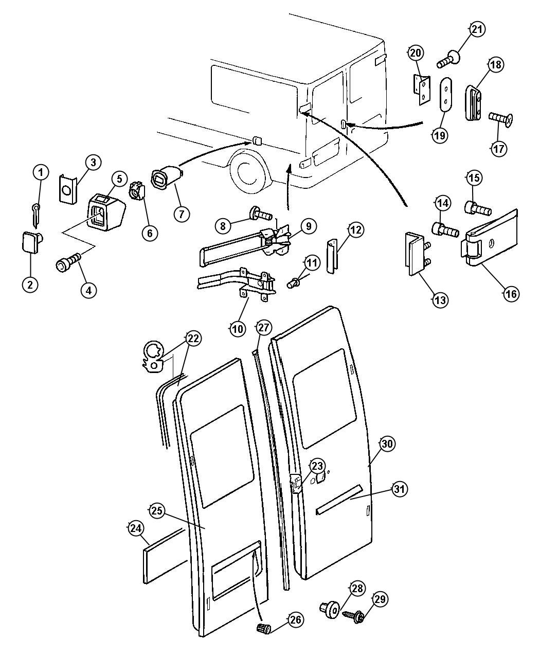 Dodge Sprinter Bumper Door Cargo Doors