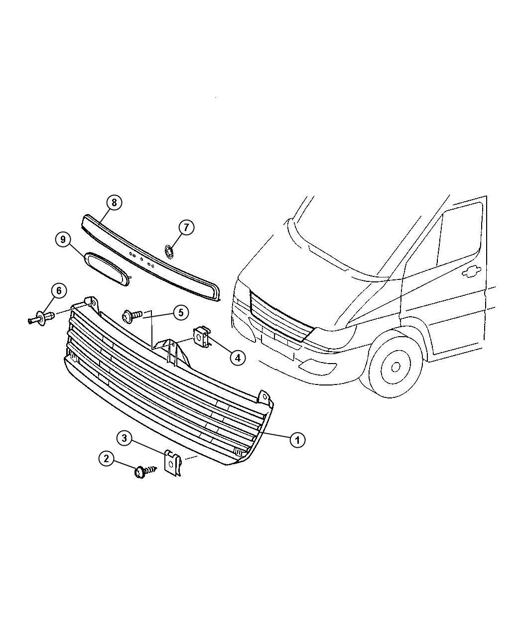 Dodge Sprinter Screw Dodge Badge With Rear