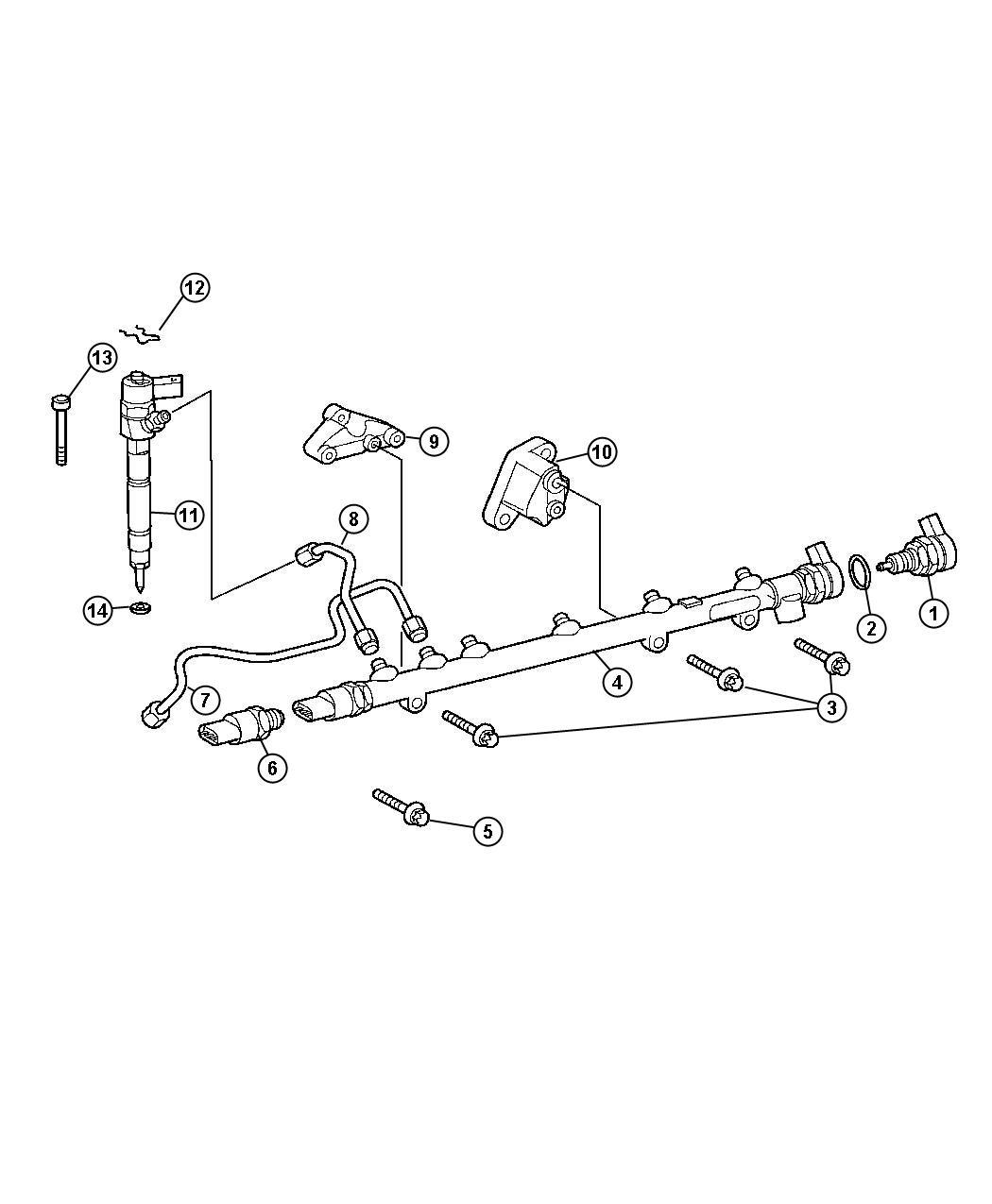 Dodge Sprinter Tube Fuel Injector Supply
