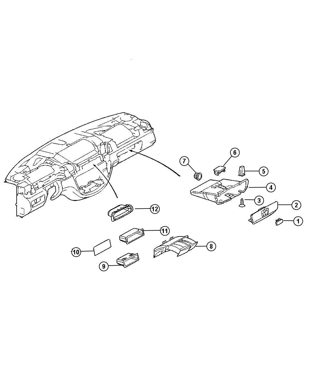 2005 Dodge Sprinter 2500 Plug. Instrument panel