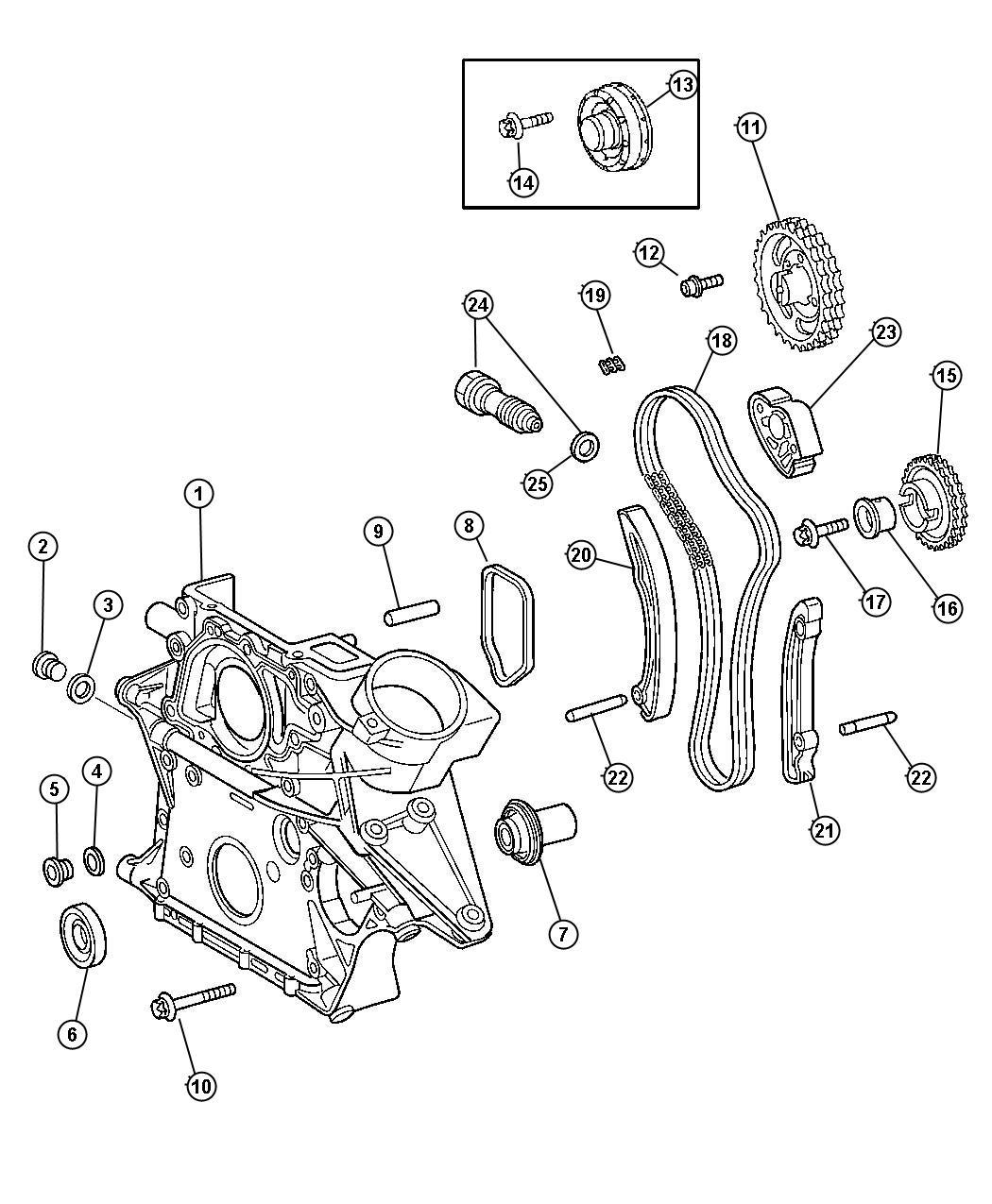 Dodge SPRINTER 3500 Tensioner. Chain. Diesel, timing