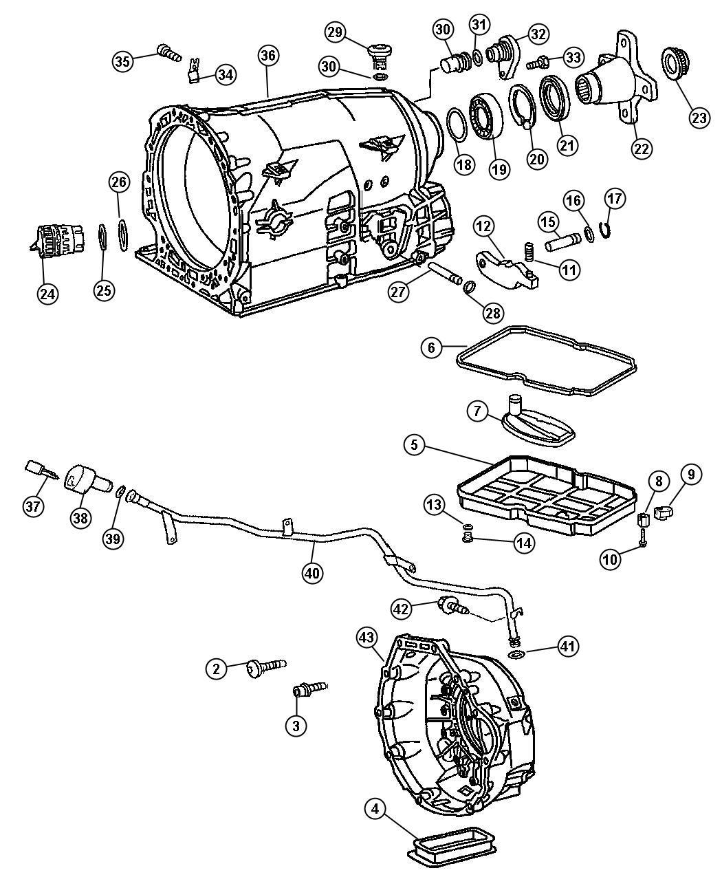 Dodge SPRINTER 3500 Pan. Transmission oil. Pan kit