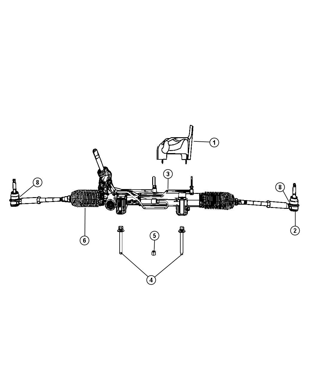 Dodge Caliber Gear Remanufactured Rack And Pinion Sbp Steering Suspension
