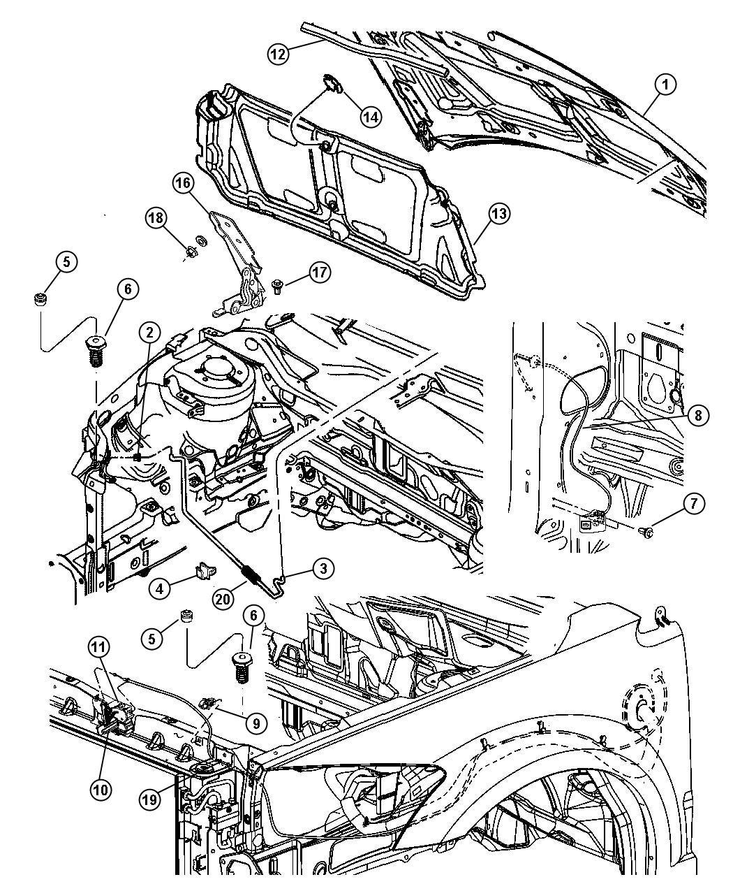 2010 Dodge Caliber Bracket. Hose. Cooling module. Cooling