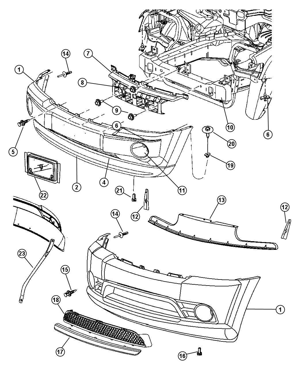 Chrysler 300 Applique Nerf Fascia Bright Insert