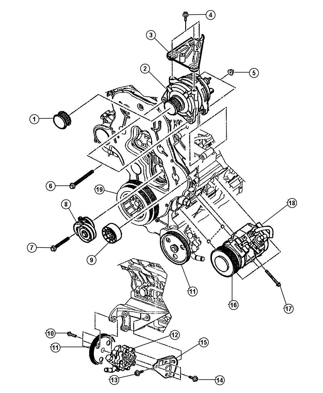 Jeep Liberty Pulley Crankshaft Includes Key Way