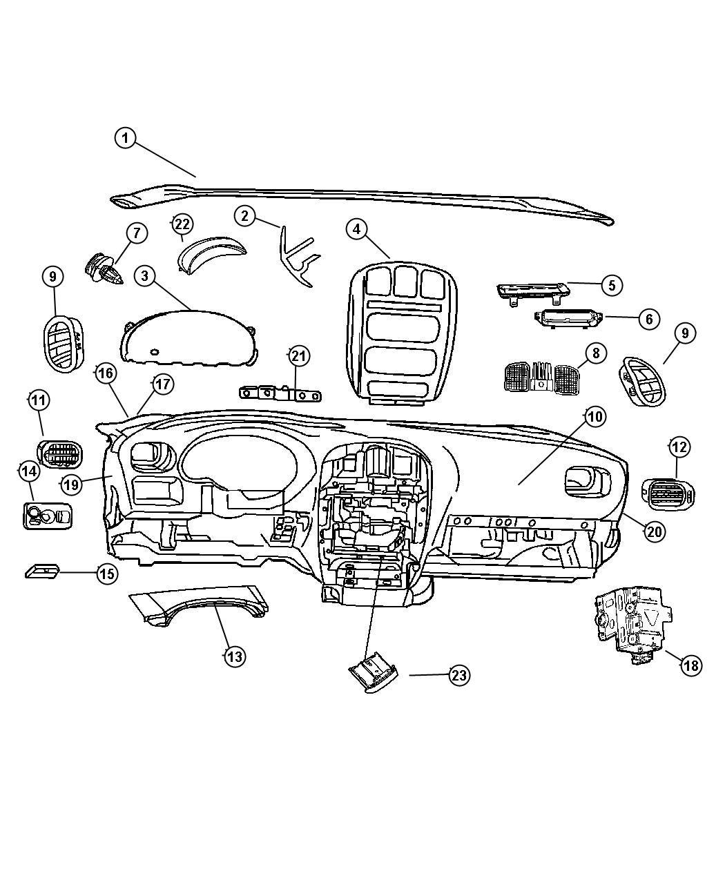 2010 Dodge Ram 1500 Module. Message center. [j3]. Trim