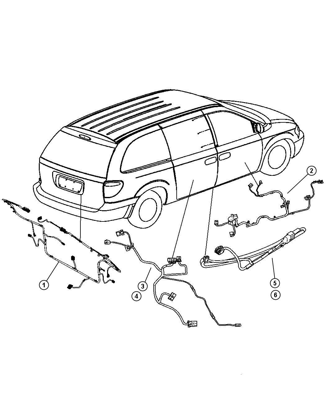 2005 Dodge Grand Caravan Wire track. Sliding door left