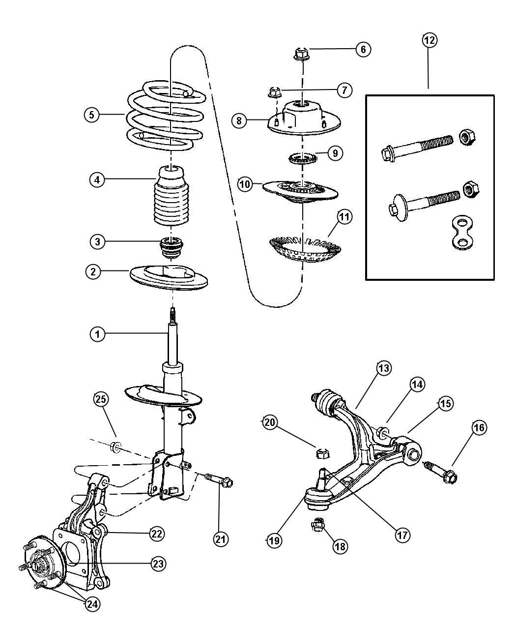 Jeep Wrangler Arm Control Right Suspension