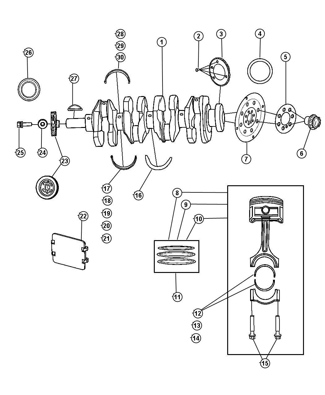 Dodge Caliber Damper. Crankshaft. Engine, vvt, dual