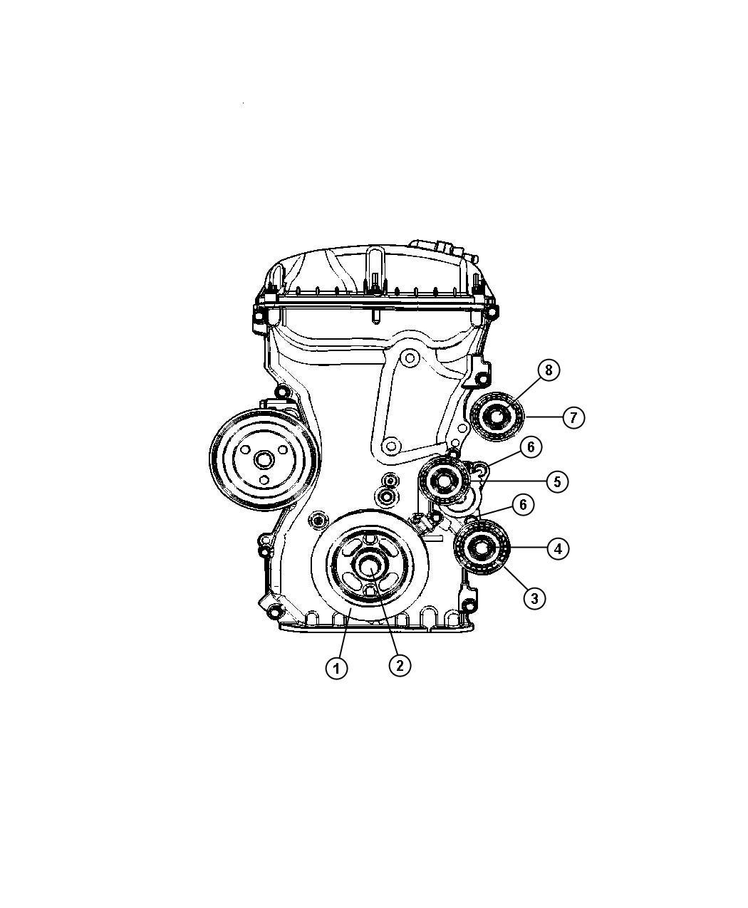 Jeep Patriot Pulley. Idler. Upper. Module, power, train