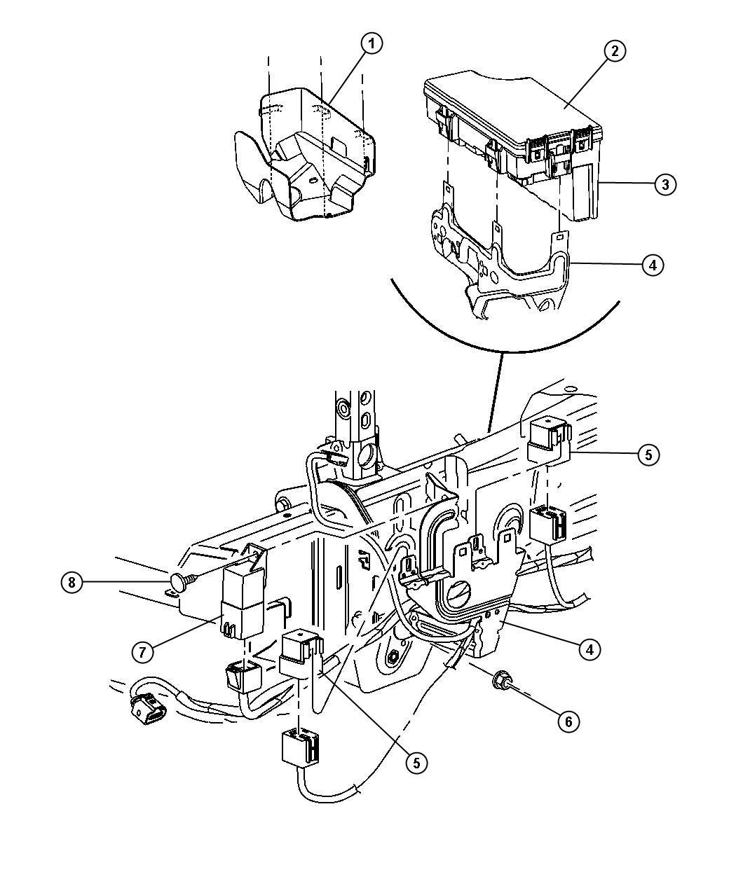 Jeep Patriot Module Glow Plug Modules Compartment