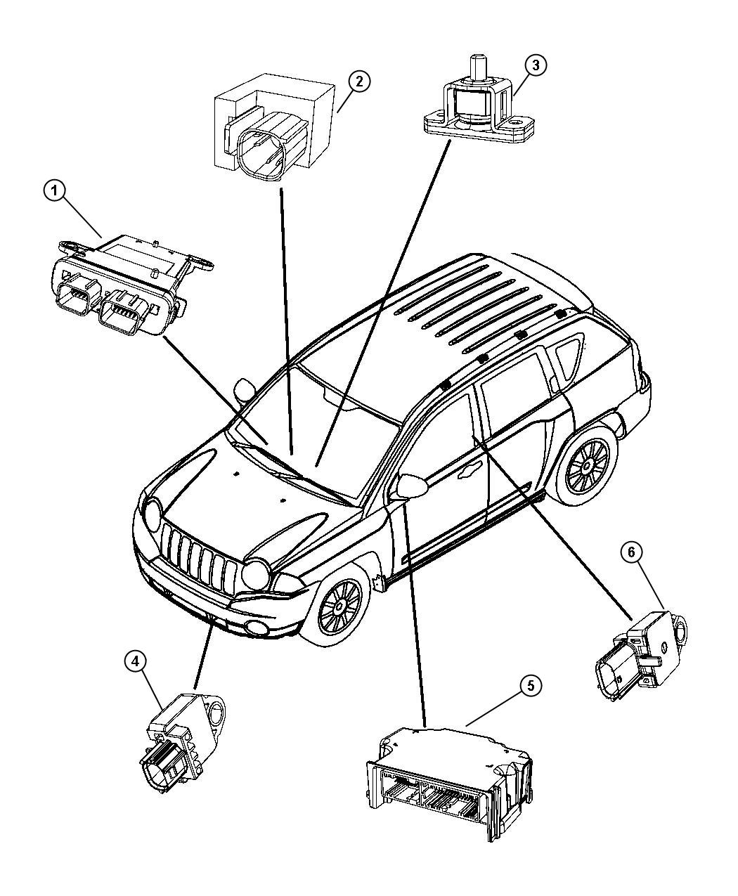 2007 Jeep Patriot Module. Occupant classification. [driver