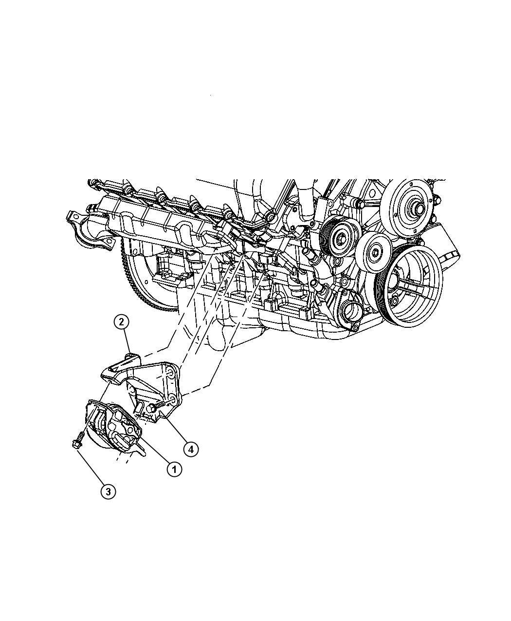 Dodge Ram Insulator Engine Mount Left Side Mounts Mounting