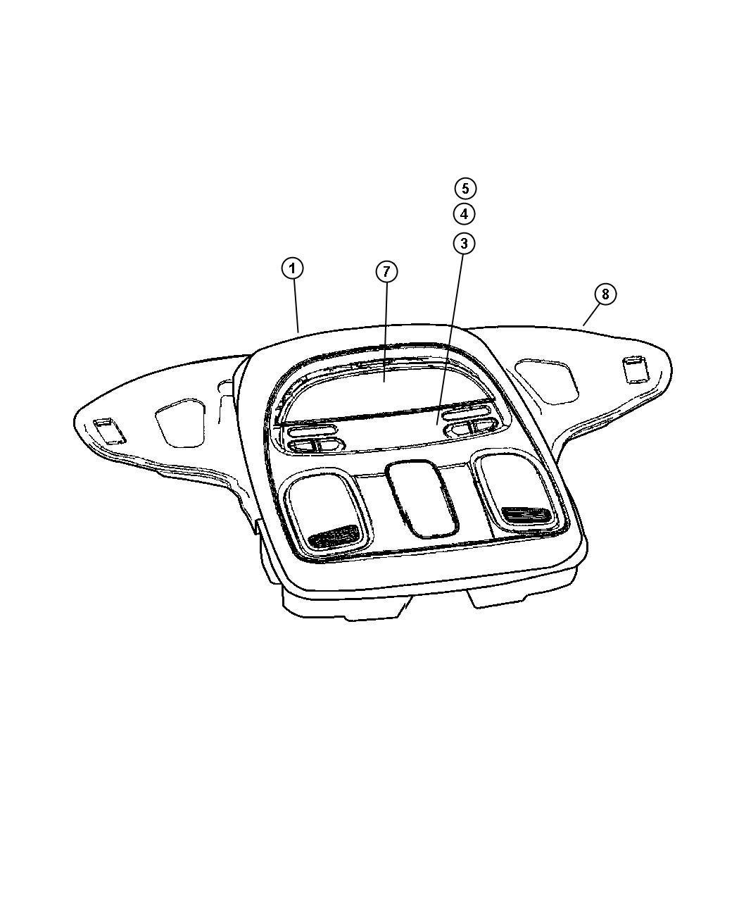 Dodge Ram Module Compass Temperature Trim All