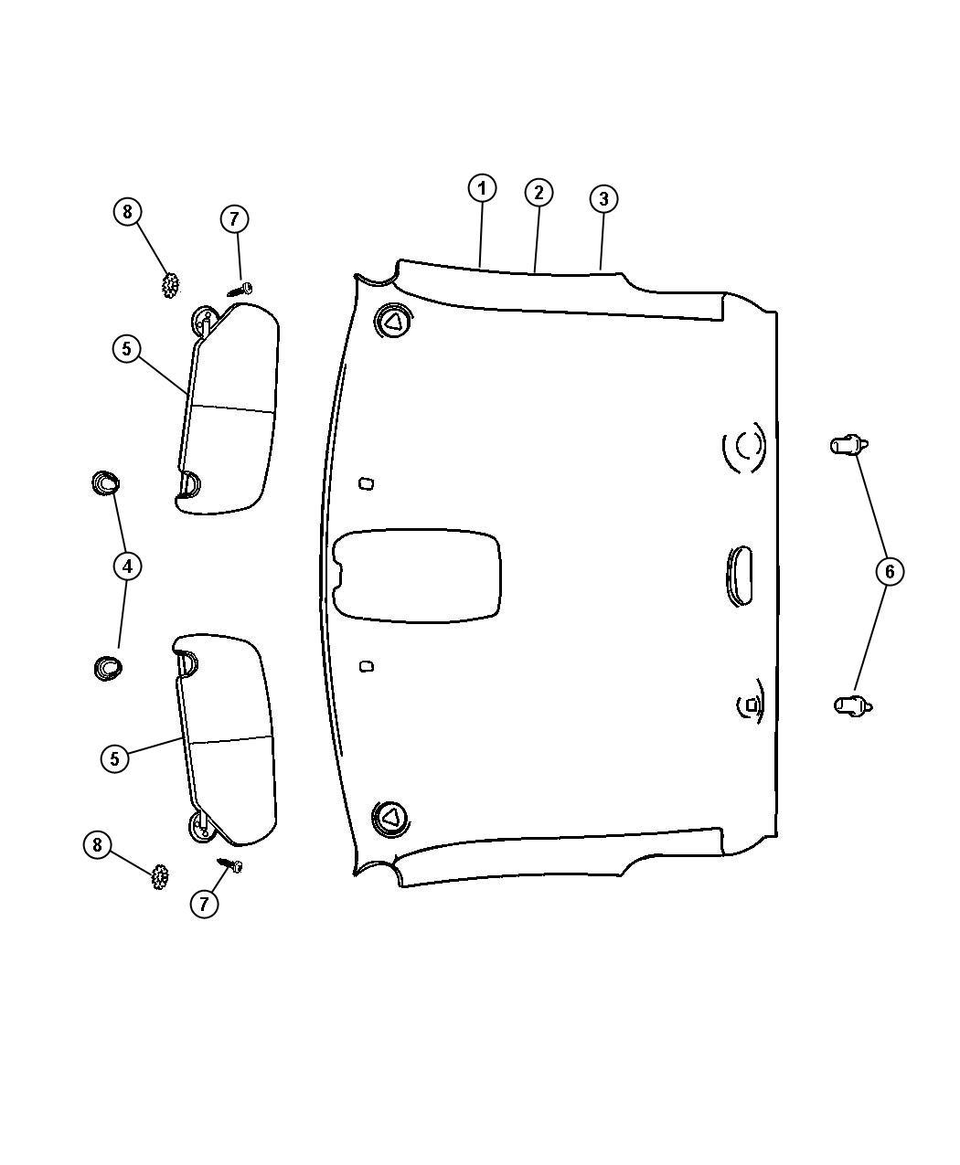 Dodge Ram Headliner Trim All Trim Codes