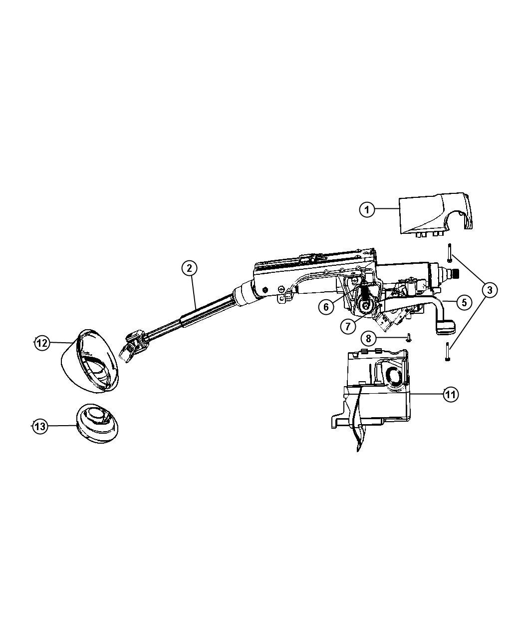 Jeep Compass Seal Steering Column Shaft Lower
